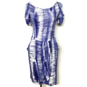 Weston Wear Gathered Hemlock Blue Draped Dress